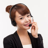 Call center operator business woman Royalty Free Stock Photo