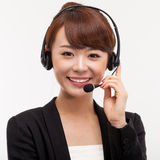 Call center operator business woman Royalty Free Stock Images