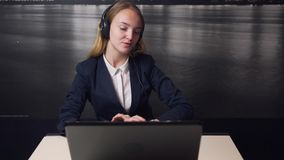 Call Center Operator Cosulting Customer stock video footage