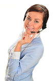 Call center operator. Customer support. Help desk.  royalty free stock photo