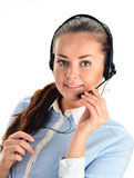 Call center operator. Customer support. Help desk Stock Photography