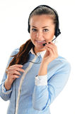 Call center operator. Customer support. Help desk Royalty Free Stock Photo