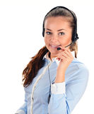 Call center operator. Customer support. Help desk Stock Images