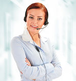 Call center operator. Customer support. Helpdesk Stock Photography