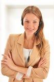 Call center operator. Customer support. Helpdesk. Stock Images