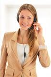 Call center operator. Customer support. Helpdesk. Stock Photo