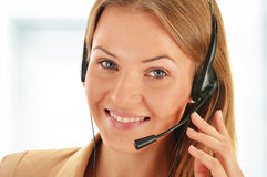 Call center operator. Customer support. Helpdesk. Royalty Free Stock Photography