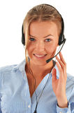 Call center operator. Customer support. Helpdesk. Stock Photo