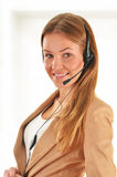 Call center operator. Customer support. Helpdesk. Stock Images