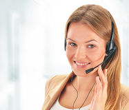 Call center operator. Customer support. Helpdesk Stock Image