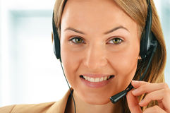Call center operator. Customer support. Helpdesk Royalty Free Stock Image