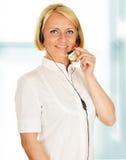 Call center operator. Customer support. Helpdesk Stock Photos