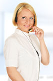 Call center operator. Customer support. Helpdesk Royalty Free Stock Photos