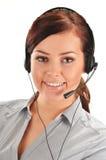 Call center operator. Customer support. Helpdesk Royalty Free Stock Photos