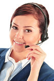Call center operator. Customer support. Helpdesk Stock Photos