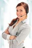 Call center operator. Customer support. Helpdesk Stock Photo