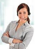 Call center operator. Customer support. Helpdesk Stock Image