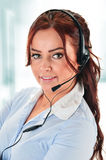 Call center operator. Customer support. Helpdesk Stock Photo