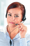 Call center operator. Customer support. Helpdesk Royalty Free Stock Photo