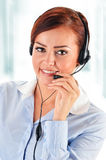 Call center operator. Customer support. Stock Images