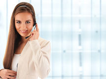 Call center operator. Customer support. Helpdesk Stock Images