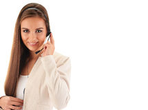 Call center operator. Customer support. Helpdesk Royalty Free Stock Photography