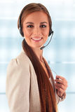 Call center operator. Customer support. Helpdesk. Stock Photos