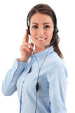 Call center operator. Customer support. Helpdesk.  stock photography