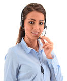Call center operator. Customer support. Helpdesk.  royalty free stock image