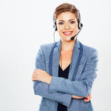 Call center operator. Royalty Free Stock Photography