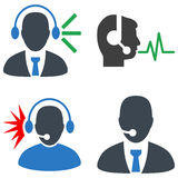 Call Center Operator Flat Icons Royalty Free Stock Photography