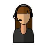Call center operator icon. Vector illustration design Stock Images