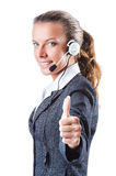 Call center operator isolated Royalty Free Stock Photography