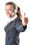 Call center operator isolated Royalty Free Stock Images