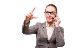 The call center operator isolated on white background Royalty Free Stock Image