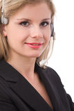 Call center operator portrait Royalty Free Stock Photo