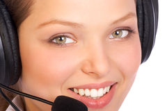 Free CALL CENTER OPERATOR SMILING Stock Photo - 1027420