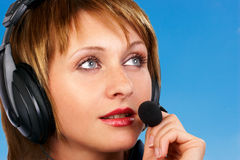 CALL CENTER OPERATOR SMILING Royalty Free Stock Image