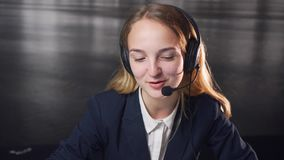 Call Center Operator stock video