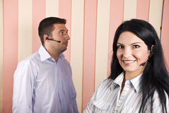 Call center operator team royalty free stock image