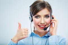 Call center operator. Stock Photo