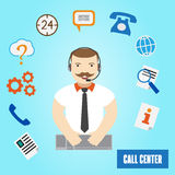 Call center operator for web and mobile. Stock Photography