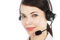 Call center operator woman Stock Photography