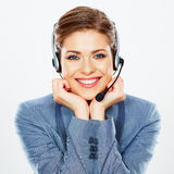 Call center operator. Stock Images
