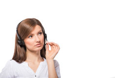 Call center operator at work Stock Image