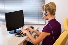 Call center operator working Royalty Free Stock Photo