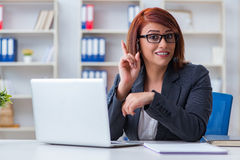 The call center operator working with clients Stock Photo