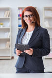 The call center operator working with clients Royalty Free Stock Photography