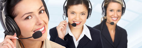 Call Center Operators Royalty Free Stock Photo