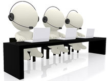 Call center operators Stock Photo